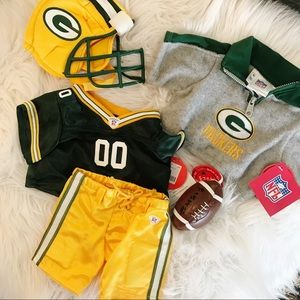 Build A Bear Green Bay Packers Outfit Clothes new